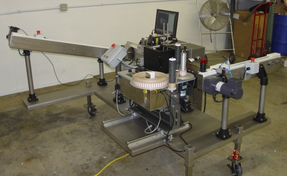 Pharmaceutical label application and package inspection