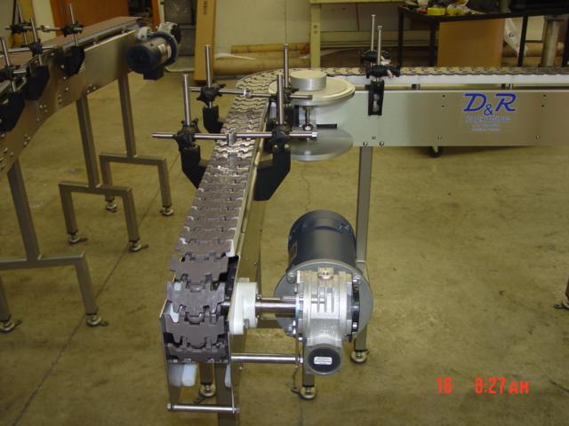 90 Degree Transfer Conveyor Stainless Steel Machine