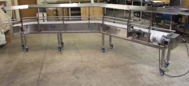 Covered Portable Conveyor Food Industry Grade
