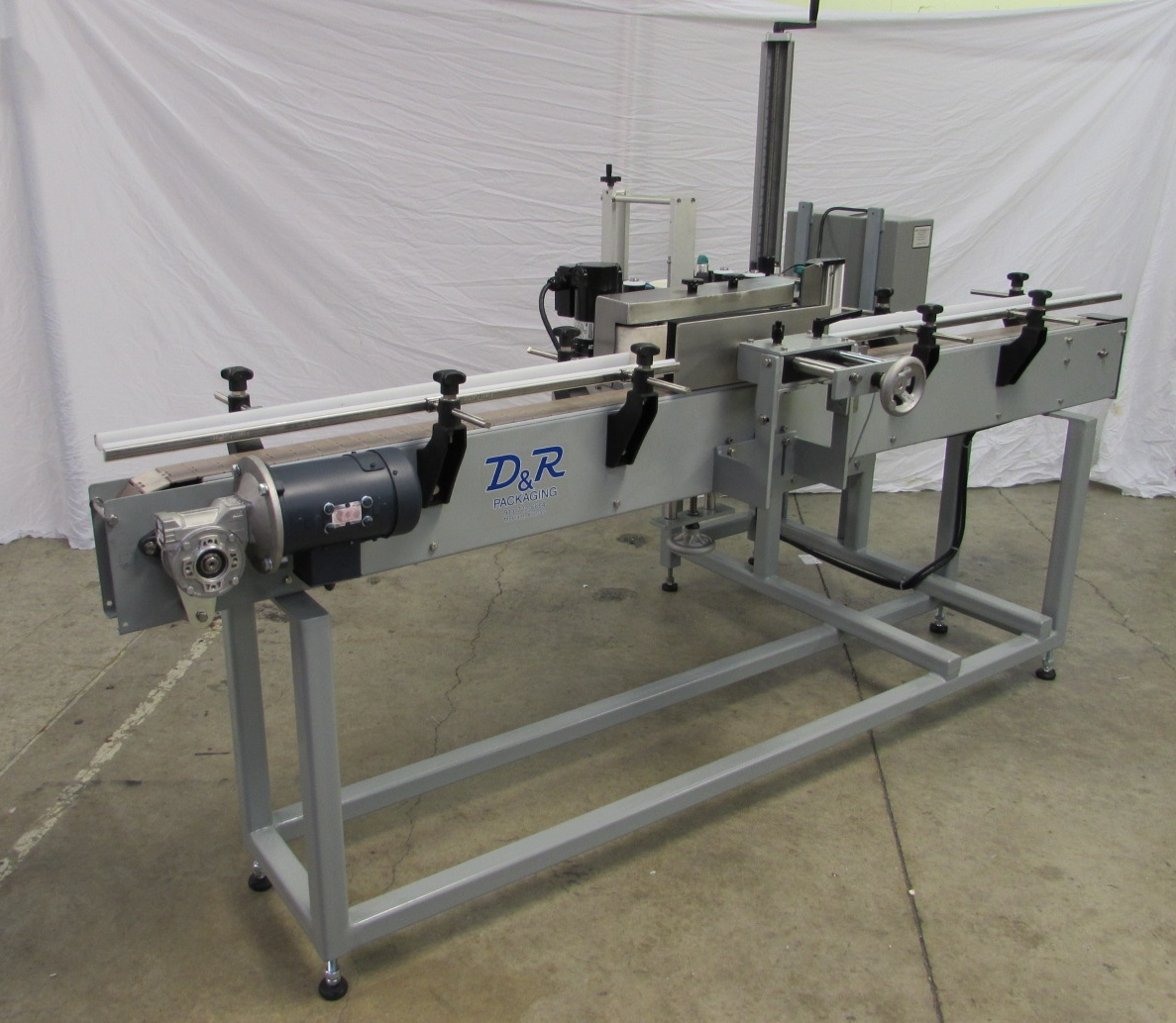 Modular Labeling System with Wrap and Hot Stamp Imprinter