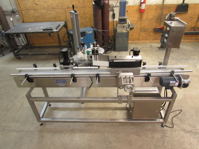 Stainless Steel Modular Labeling System with Label Wrap Application