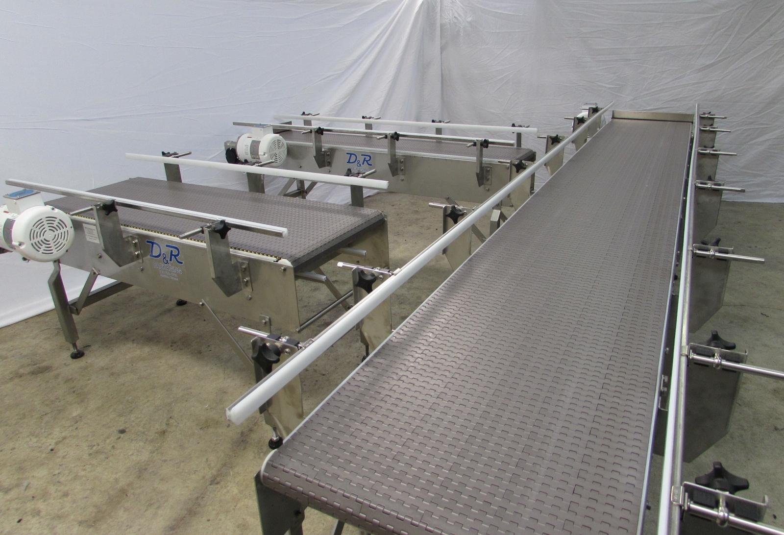 Washdown Mattop Chain Conveyors w/ Nosebar