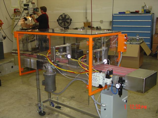 Custom automated packaging machinery conveyor