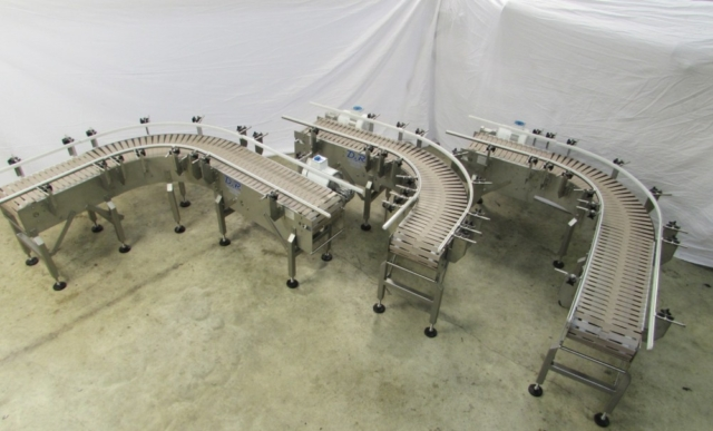 Washdown 90-degree transfer conveyors
