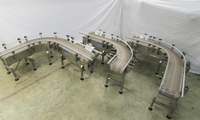 Washdown 90-degree transfer conveyors
