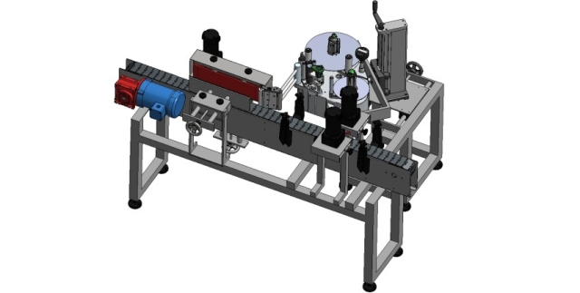 Modular Labeling System with Wrap Belt and Spacing Wheels